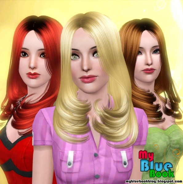 Chin lenght hairstyle Peggy 5637 retextured by TumTum Simiolino for Sims 3