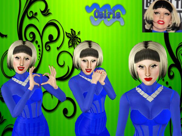 Gaga Short Hairstyle 03 by Osiris Sims for Sims 3