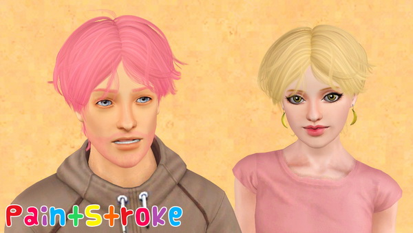 Crepe hairstyle NewSea`s Neil retextured by Katty for Sims 3