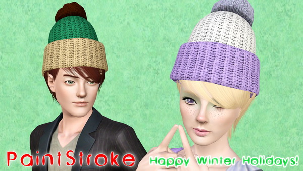 NewSea`s  Mistletoe hairstyle retextured by Katty for Sims 3
