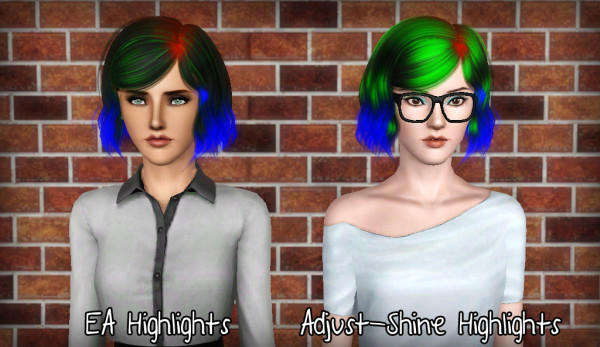 Soft and flowing bob hairstyle  Alesso's Burn retextured by Forever and Always for Sims 3