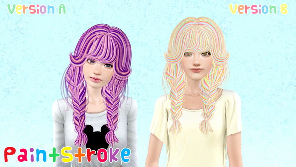 NewSea`s Becky Streaked hairstyle retextured by Katty for Sims 3
