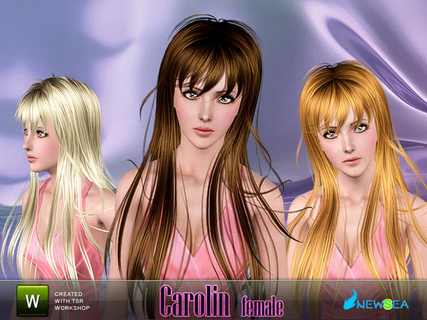Scanty hair with bangs Carolin by Newsea for Sims 3