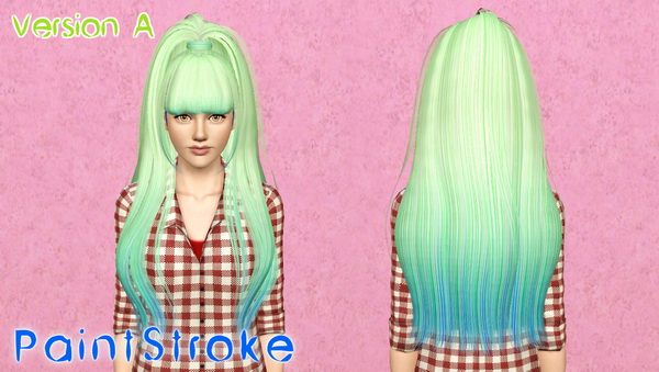 Butterfly 029 hairstyle retextured by Katty for Sims 3