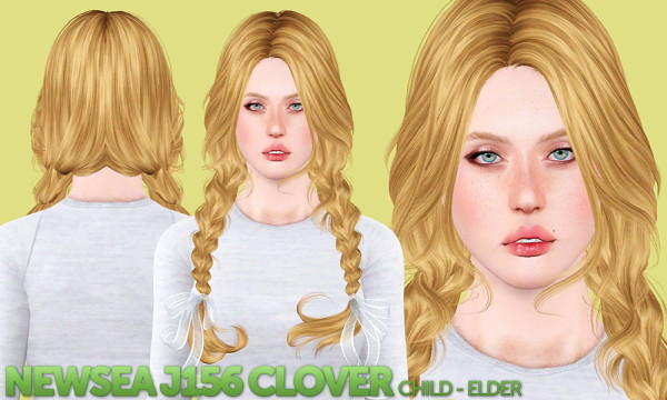 NewSea`s TellMe and Clover hairstyles retextured by Shack and Shame for Sims 3