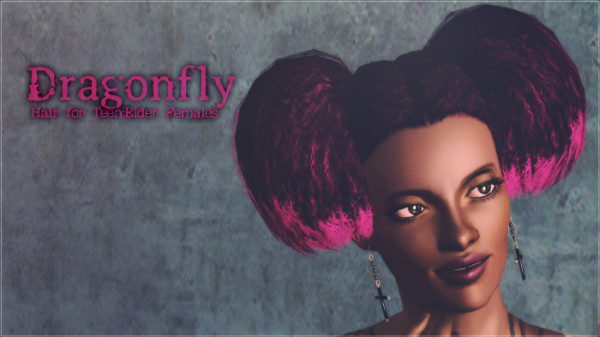 Dragonflyh Hairstyleby Aikea Guinea for Sims 3
