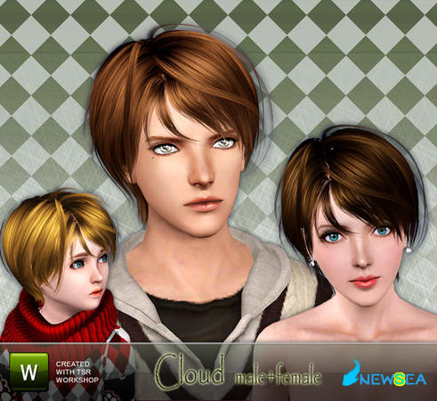 Special bangs hairstyle Cloud by Newsea for Sims 3