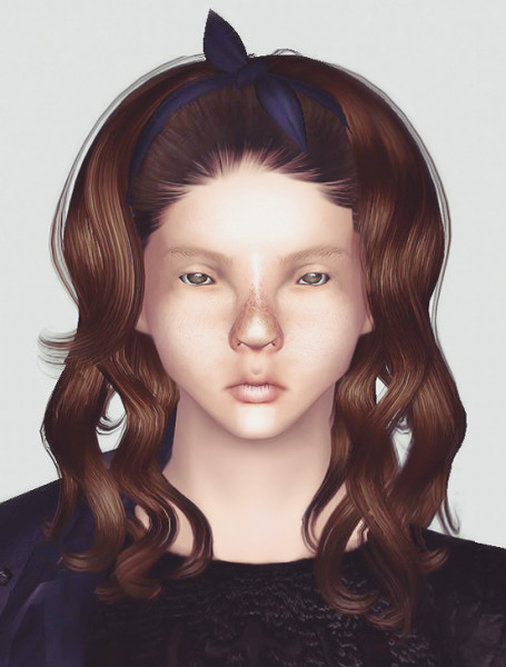Scarf hairstyle Newsea`s Coccon retextured by Momo  for Sims 3