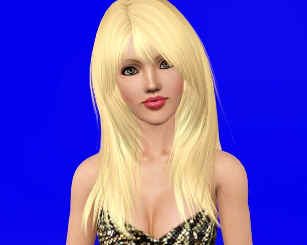 Rose 94 Alpha Edit by Savio   Layered hairstyle  for Sims 3