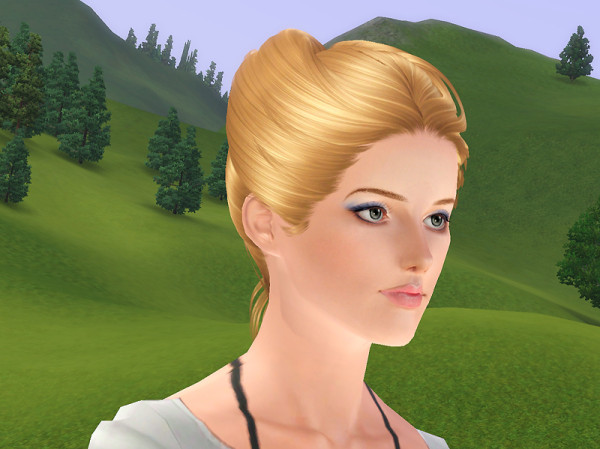 Horned hairstyle NewSea`s Swan retextured by Brad for Sims 3