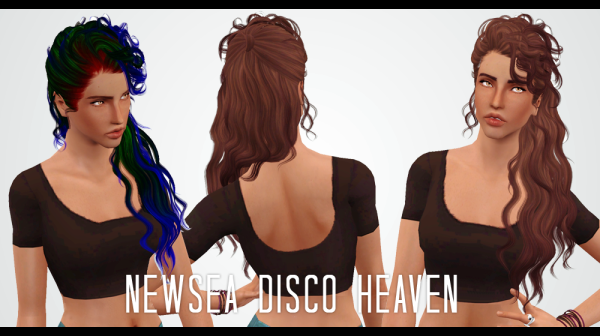 Disco hairstyle Retextured by Janita for Sims 3