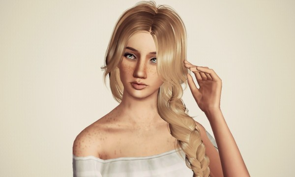 Huge side fishtail Peggy`s retextured by Marie Antoinette for Sims 3