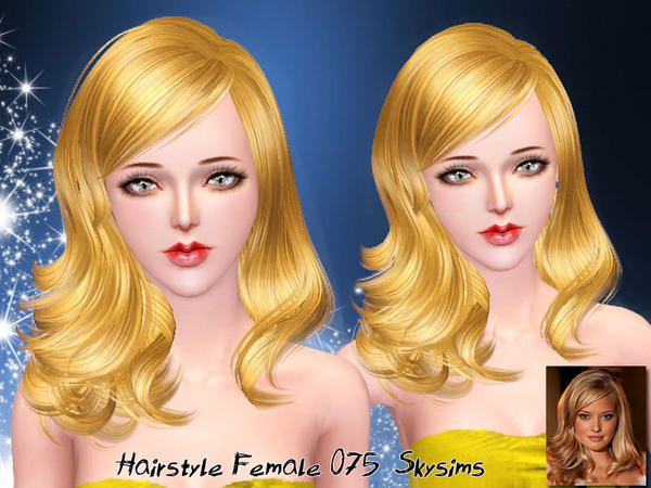 Casula hairstyle 075 by Skysims for Sims 3