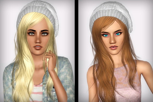 Cap hairstyle XMSims Flora 11 retextured by Forever and Always for Sims 3
