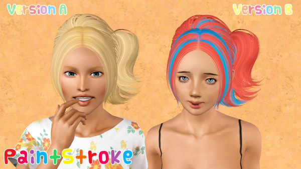 Soft as silk hairstle Skysims 118 retextured by Katty for Sims 3