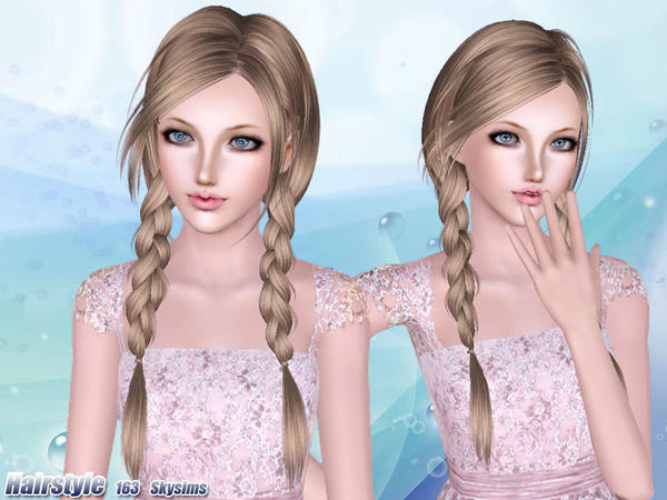 Two Braids Hairstle 163 By Skysims Sims 3 Hairs