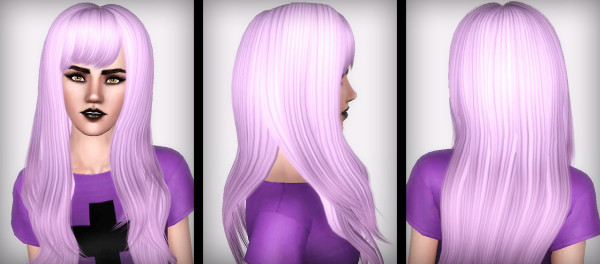 Straight bangs hairstyle Zauma`s Hush retextured by Forever and Always for Sims 3