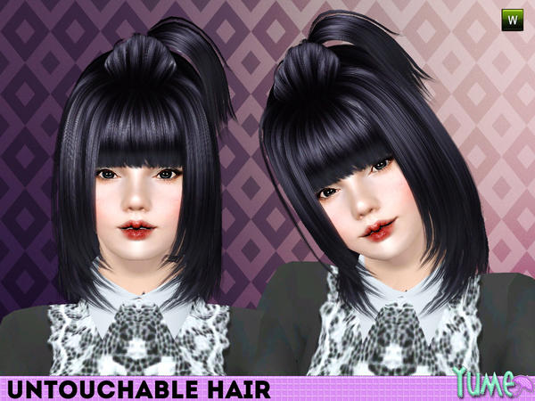 Yume Untouchable high pigtail hairstyle by Zauma  for Sims 3