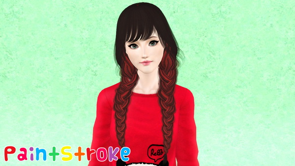 Raonjena S 21 Two Huge Braids With Bangs Hairstyle Retextured By