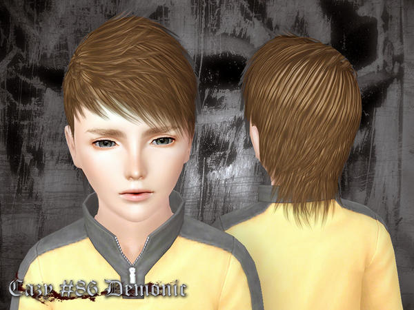 Jagged peaks hairstyle Demonic by Cazy for Sims 3