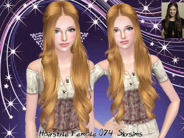 Fancyful hairstyle 074 by Skysims for Sims 3