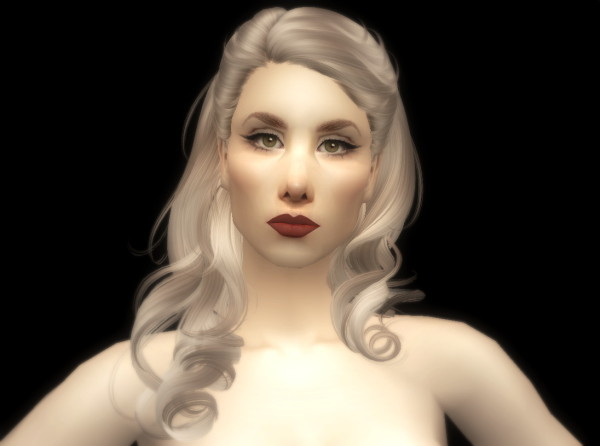 Newsea's Thorn Birds hairstyle retextured by Fanaskher for Sims 3
