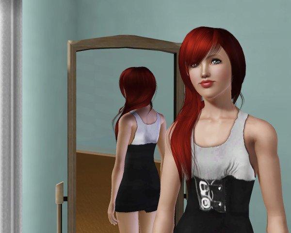 Anto 40 Endless Texture hairstyle retextured by Savio for Sims 3