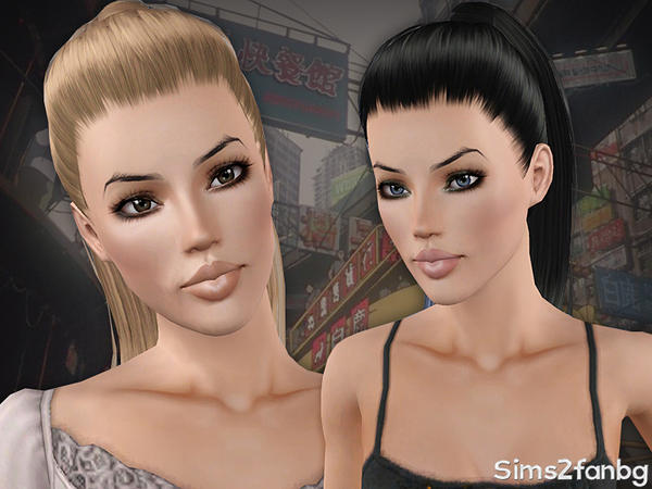 Ponytail hairstyle 15 by sims2fanbg for Sims 3