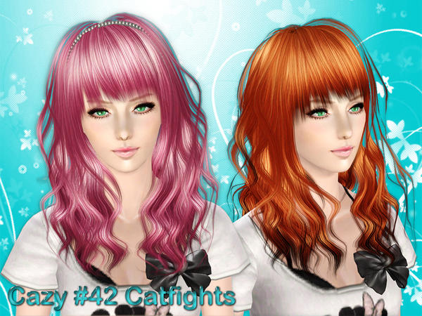 Catfights hairstyle by Cazy  for Sims 3