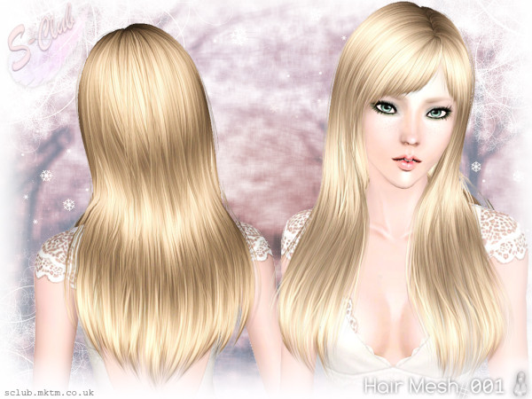 Straight with bangs hairstyle Aruna by S Club Privee for Sims 3