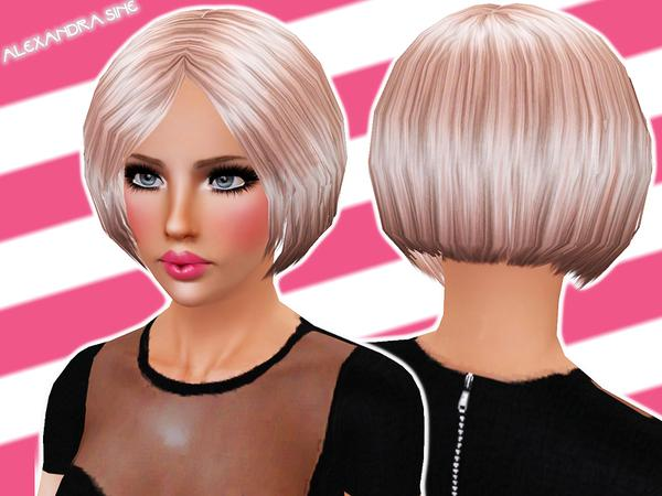 Rounded Bob Hairstyle by Alexandra Sine for Sims 3