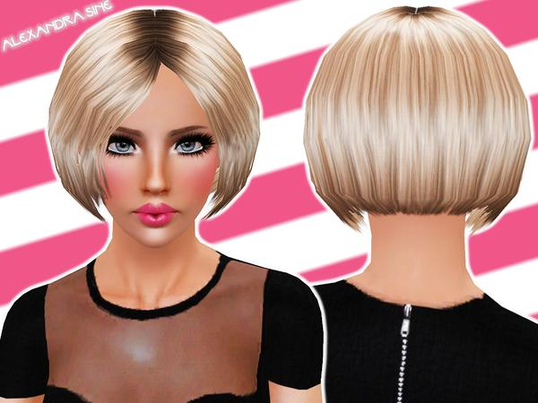 Incredible Rounded Bob Hairstyle By Alexandra Sine Sims 3 Hairs Short Hairstyles Gunalazisus