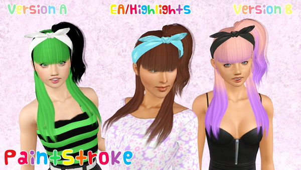 Zauma`s Ice cream hairstyle retextured by Katty for Sims 3