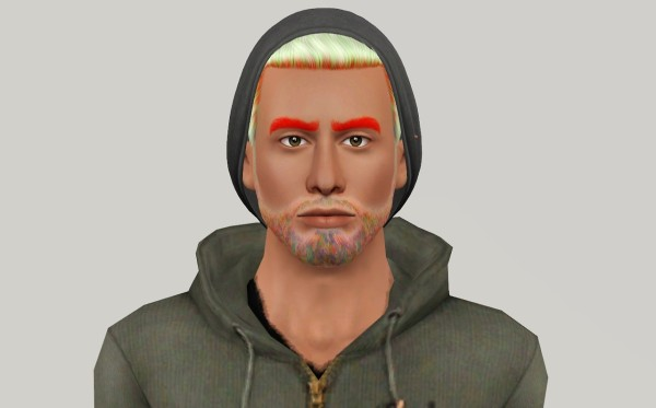 Nightcrawler 04 hairstyle retextured by Fanaskher for Sims 3