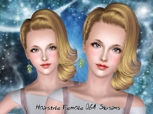 Tousled Curls hairstyle 061 by Skysims for Sims 3