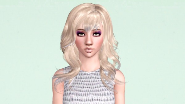Ponytail with rhinestones hairclip Peggy`s 60 retextured by Marie Antoinette for Sims 3