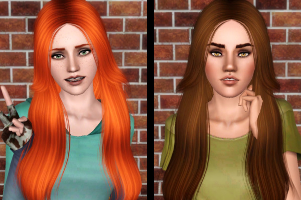 Hairdo Nightcrawler 07 retextured by Forever and Always for Sims 3