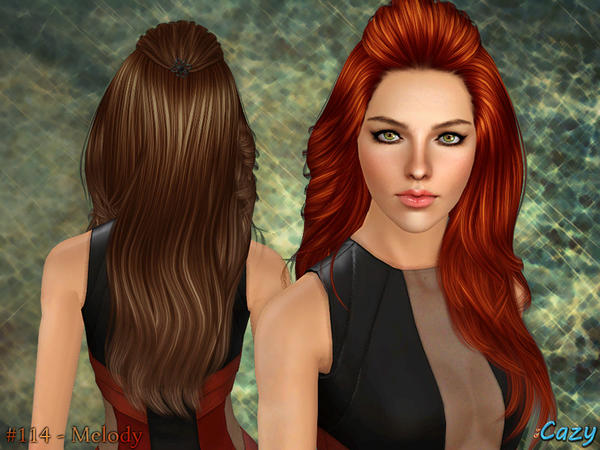 Rolled Bangs Hairstyle Melody By Cazy Sims 3 Hairs