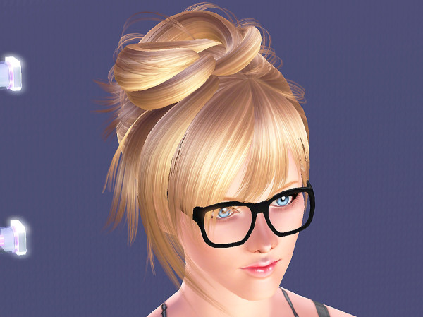 Loose bun on top of head NewSea`s hairstyle retextured by Brad for Sims 3