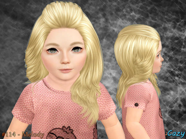 Rolled bangs hairstyle Melody by Cazy for Sims 3