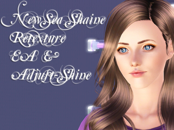 NewSea`s Shine hairstyle retextured by Brad for Sims 3