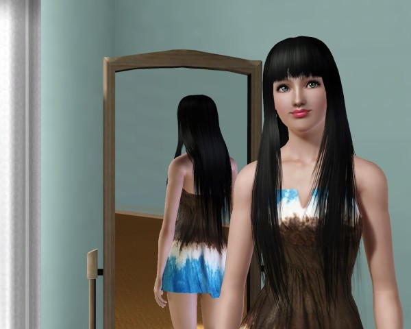 Straight with bangs hairstyle Peggy`s 37 retextured by Savio for Sims 3