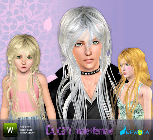 Ducan fantastic hairstyle by NewSea for Sims 3