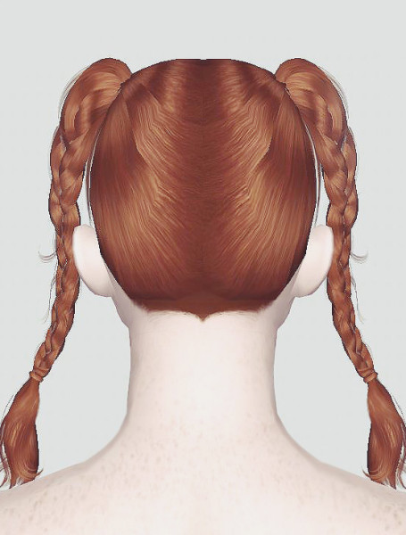 Braided Pigtails Newsea, S Club and EA Hair Mashup by Momo for Sims 3