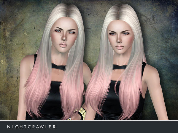 Straight Middle Part Hairstyle 02 By Nightcrawler