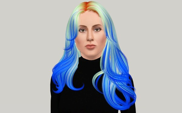 Glossy waves hairstyle Newsea`s Equinoxe retextured by Fanaskher for Sims 3