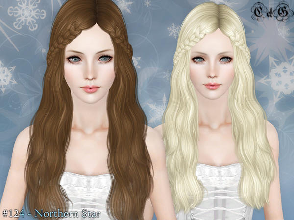 Hairstyles Braids Download: Double Braided Bangs Northern Star Hairstyle By Cazy