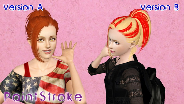 Butterfly 060 hairstyle retextured by Katty for Sims 3