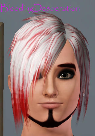 Emo hair white with red highlights hairstyle by emo hair white with red highlights hairstyle by bleedingdesperation for sims 3 pmusecretfo Choice Image