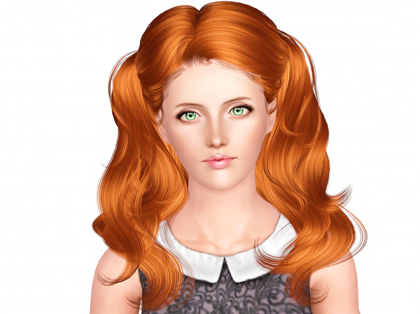 Newsea`s Goldleaf hairstyle retextured by Brad for Sims 3